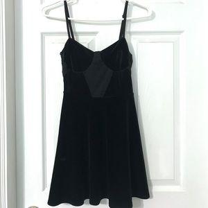 Topshop velvet skater dress (petite)